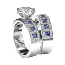 sapphires wedding rings images Diamond blue sapphire wedding ring set windows jpg