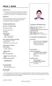 Resume Sample Format For Job Application Philippines by Sample Resume Jollibee Applicant Resume Ixiplay Free Resume Samples