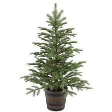 tree company 4 ft artificial spruce porch tree