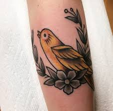 canary bird traditional tattoo comics pinterest canary birds