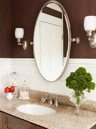 White Oval Bathroom Mirror Sink With Oval Mirrors Traditional Bathroom Seattle For