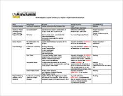 Change Management Plan Template Excel Project Communication Plan Template Free Word Documents