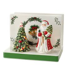 spode christmas tree figural collection napkin holder with salt