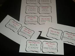 Candy Labels For Candy Buffet by Candy Anyone Weddingbee Photo Gallery