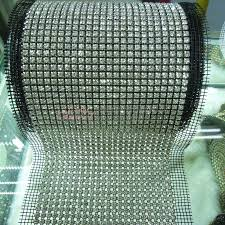 mesh ribbon wholesale copper metal base strass rhinestone mesh roll for sale wholesale