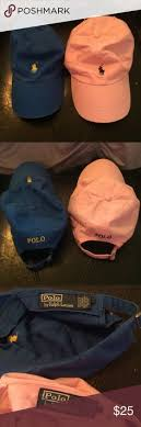 light pink polo baseball cap polo ralph lauren baseball hat w leather strap excellent condition
