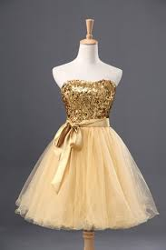 buy classic gold sparkle strapless short tulle homecoming cocktail