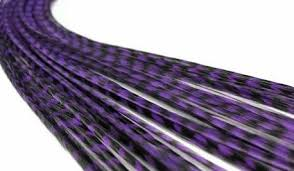 purple feather feather hair extension purple by ahead of hair extensions