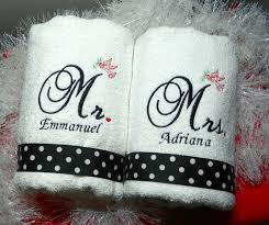custom mr and mrs towels gifts for the new