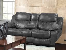 Catnapper Power Reclining Sofa Leather Power Reclining Console Loveseat By Catnapper 64319