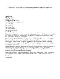 Cover Letter For A Management Position cover letter exle for management position