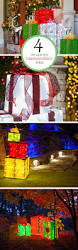 Make Your Own Christmas Light Decorations by Diy Christmas Decorations 4 Lighted Gift Boxes Outdoor
