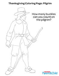 thanksgiving printable coloring pilgrim parents