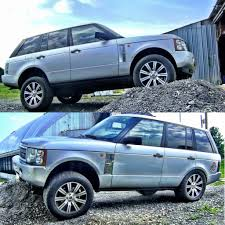 light blue land rover modified range rover hse l322 expedition portal my style