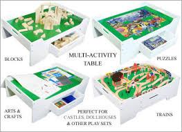 Melissa Doug Deluxe Wooden Multi Activity Table Upc 000772123716 Melissa And Doug Activity Table Wooden Toy