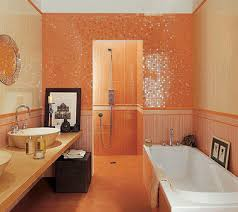 orange bathroom ideas impressive bathroom walls ideas