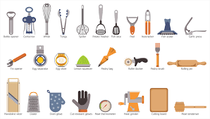 kitchen utensils design kitchen utensils clipart and names clipartxtras