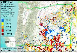 a map of oregon fires nw maps co zybach 2012 article oregon wildfire predictions