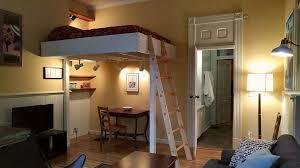best studio apartment loft bed