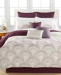 Plum Bed Set Reese Plum 10 Comforter Set Bed In A Bag Bed