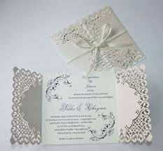 wedding invitations lace 50 personalized pearl ivory lace floral design wedding