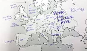 blank map of europe this is what happens when are asked to label europe and