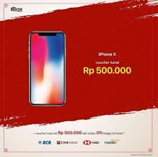 bca aeon cash voucher rp 500 000 iphone x at ibox aeon mall jakarta garden city