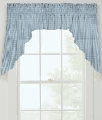 window toppers laurel check lined swag country curtains