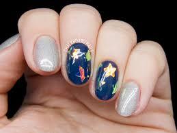 shattered glass star gel nails chalkboard nails nail art blog