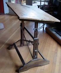 Vintage Wooden Drafting Table Studio Designs Vintage Wood Drafting Table Interior Design