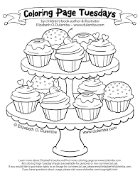 cute cupcake coloring pages dulemba coloring page tuesday tier of cupcakes