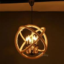 rope 3 6 lights art deco pendant lights rustic nautical hanging