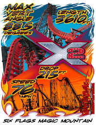 Six Flags Magic Mountain by Six Flags Magic Mountain X2 Islandboy Graphics And Apparel