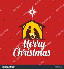 christmas card mary joseph baby jesus stock vector 338657144