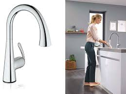 kitchen faucet foot pedal grohe rolls out a foot activated faucet hbs dealer