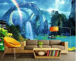 online get cheap 3d wallpaper mountain lake aliexpress com customized wallpaper for walls 3d wallpaper dream lake light mountain living room background wall mural 3d