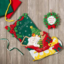 bucilla seasonal felt stocking kits christmas baby 86819