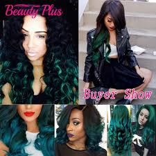 teal hair extensions 30 teal ombre hair extensions wave two 2 tone ombre 1b