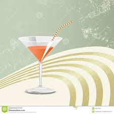 retro martini drawing cocktail glass retro style stock vector image 34872661