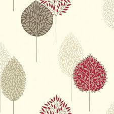 red gold beige 884001 dante motif leaf tree opera