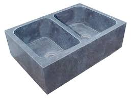 Oiled Soapstone The New England Double Bowl Solid Soapstone Sink
