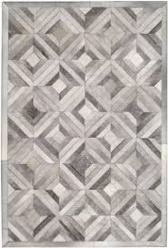 Floor Decore Madisons Grey Parquet Pattern Patchwork Cowhide Rug Diy Decor