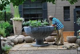 garden fountains dirt simple