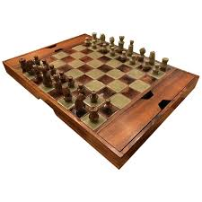 1960s danish modern rosewood and pottery chess set at 1stdibs