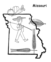 missouri map coloring pages 280 best states images on outlines state outline and maps