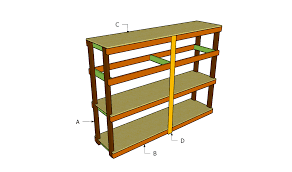 Plans For Wooden Shelf Brackets by Garage Shelving Plans Home Design By Larizza