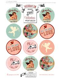 valentine printables labels flags cupcake toppers graphics
