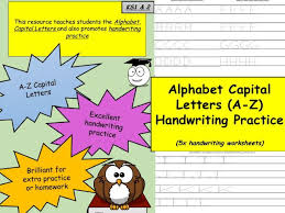 alphabet capital letters a z handwriting practice ks1 u0026 ks2 by