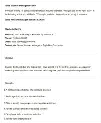Resume Sample For Account Manager by Free Manager Resume Templates 40 Free Word Pdf Documents