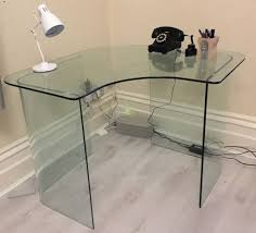 Glass Corner Desks Small Clear Glass Corner Desk New Furniture